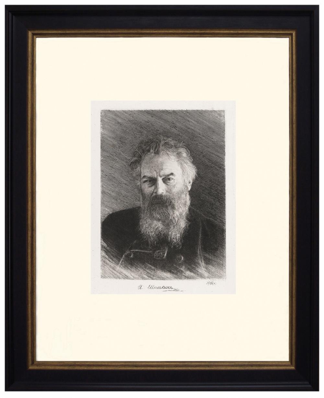 Офорт «Портрет художника»