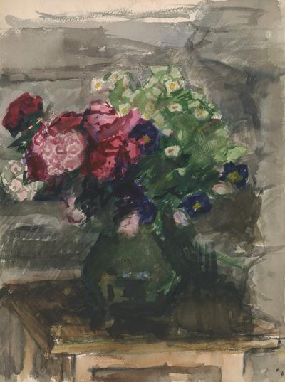 Натюрморт с букетом садовых цветов Магидсон