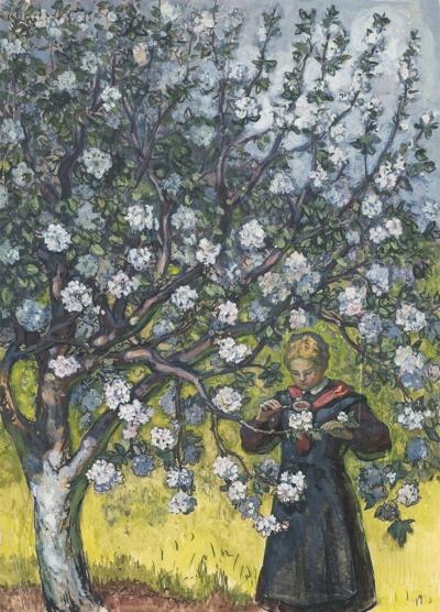Рисунок «Яблоня цветет»