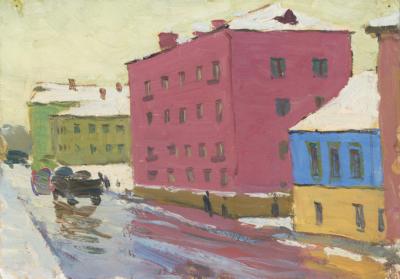 Картина Ранняя весна во Владимире Кувин