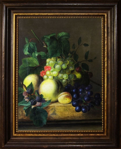 Натюрморт виноград и фрукты