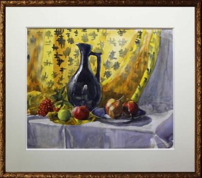 Натюрморт с кувшином и фруктами