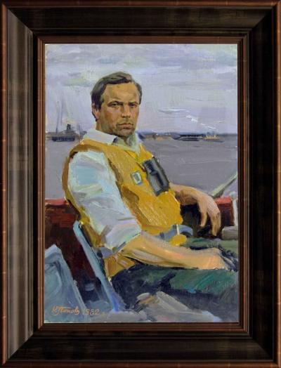 Портрет спортсмена-водника Рождественского