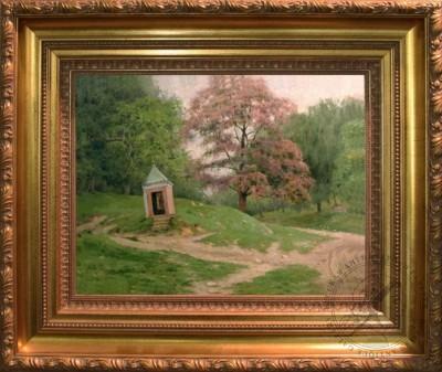 Старинная картина «Часовня в Звенигороде»