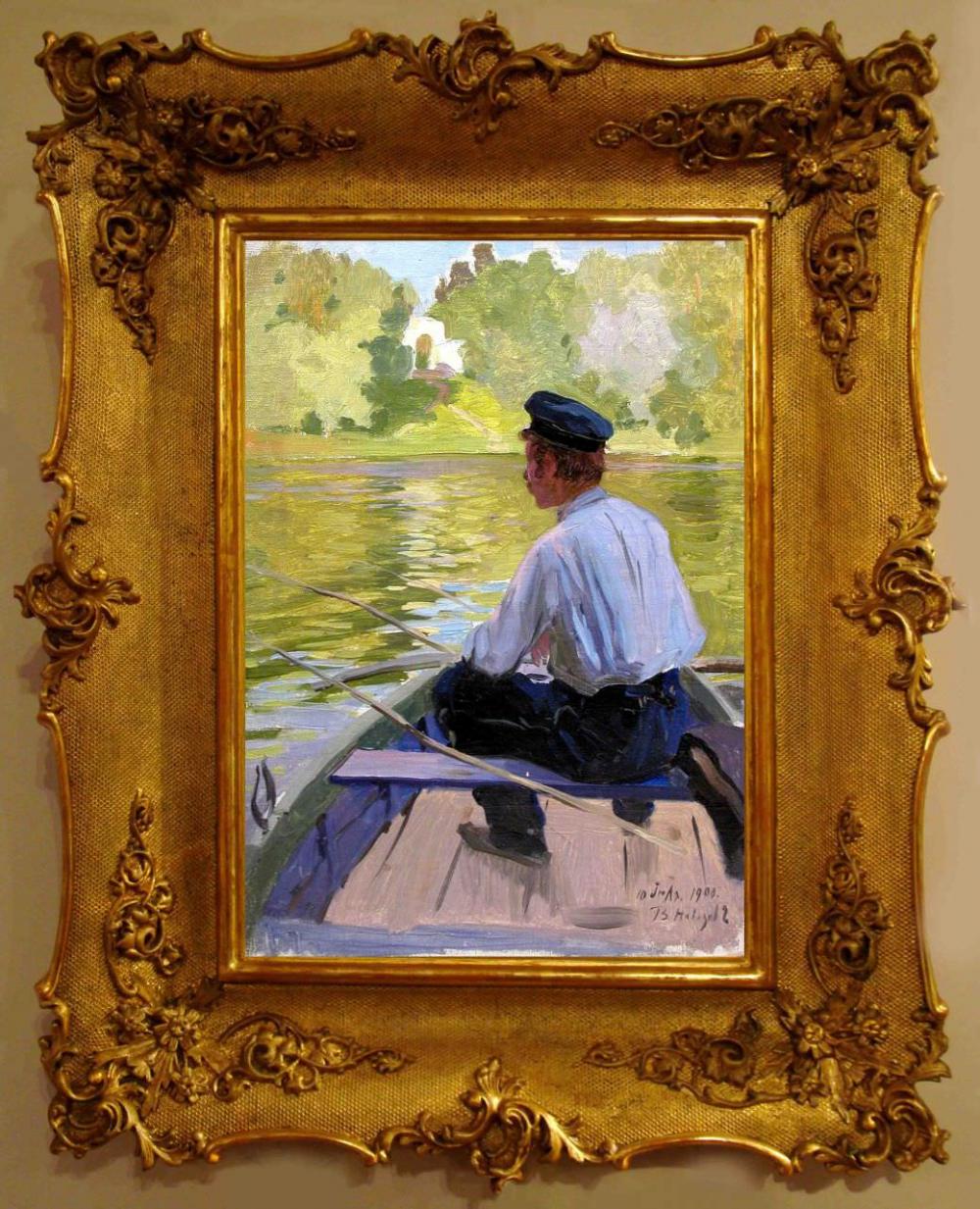 Старинная картина «Царицыно. Пруд» 1900 года
