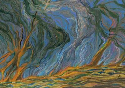 пастель Сказочный лес художник Миронов