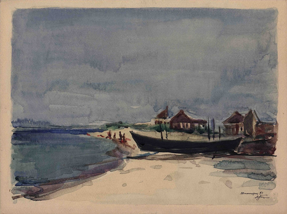 №22 Акварель «Евпатория» 1951 год