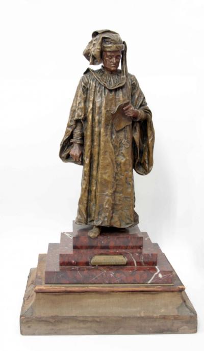 Бронзовая скульптура «Венецианский адвокат»
