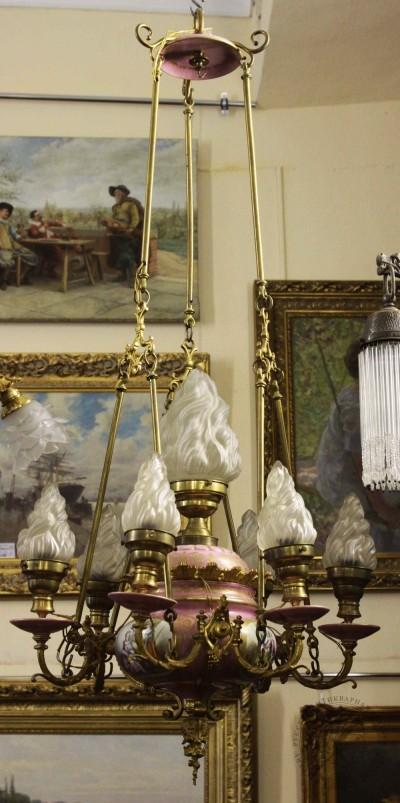 Люстра бронзовая в барочном стиле