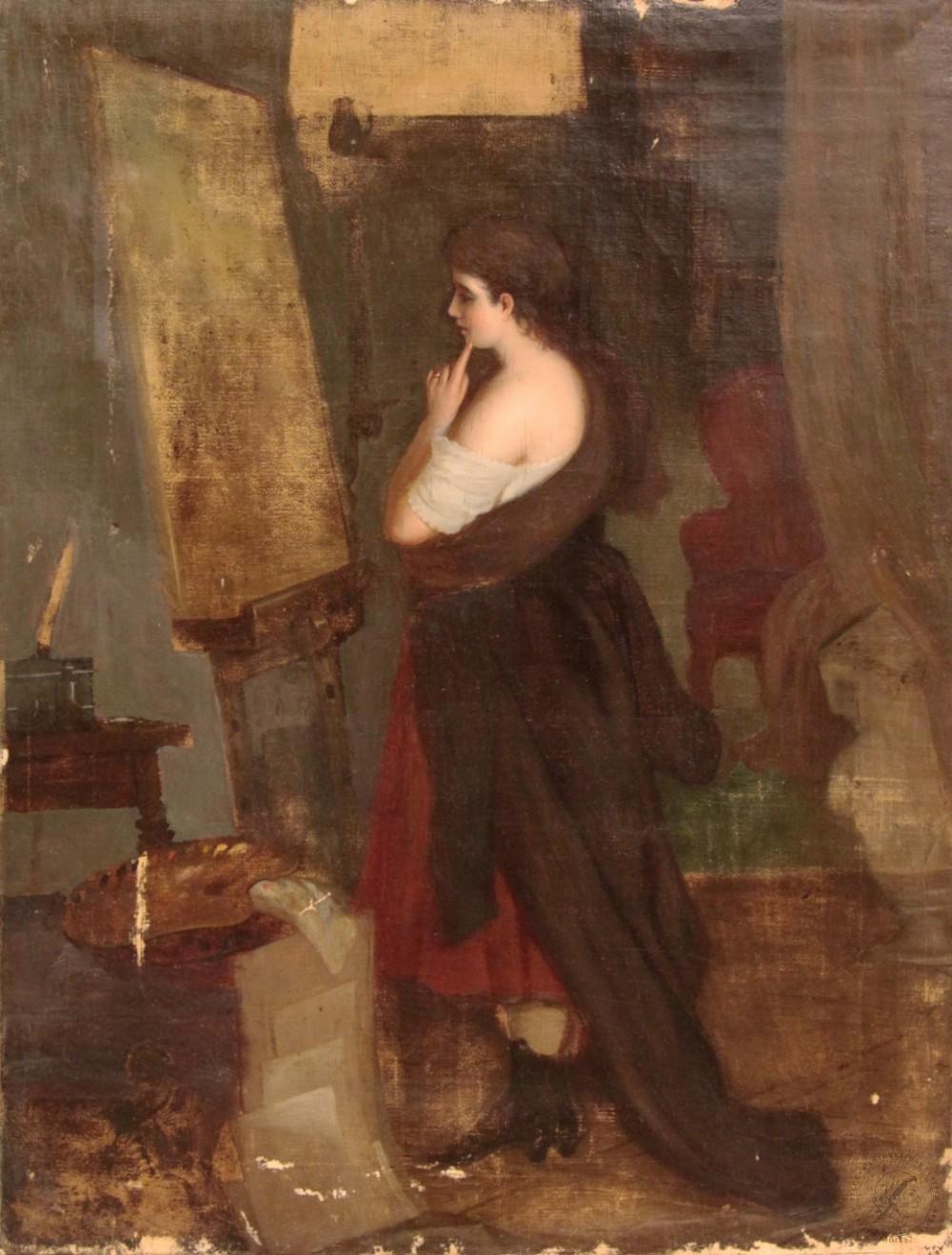 Картина старинная неизвестного художника