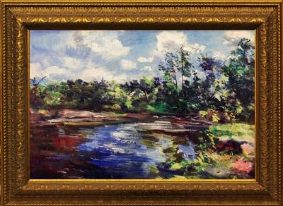 №12 Картина «Пейзаж с озером»