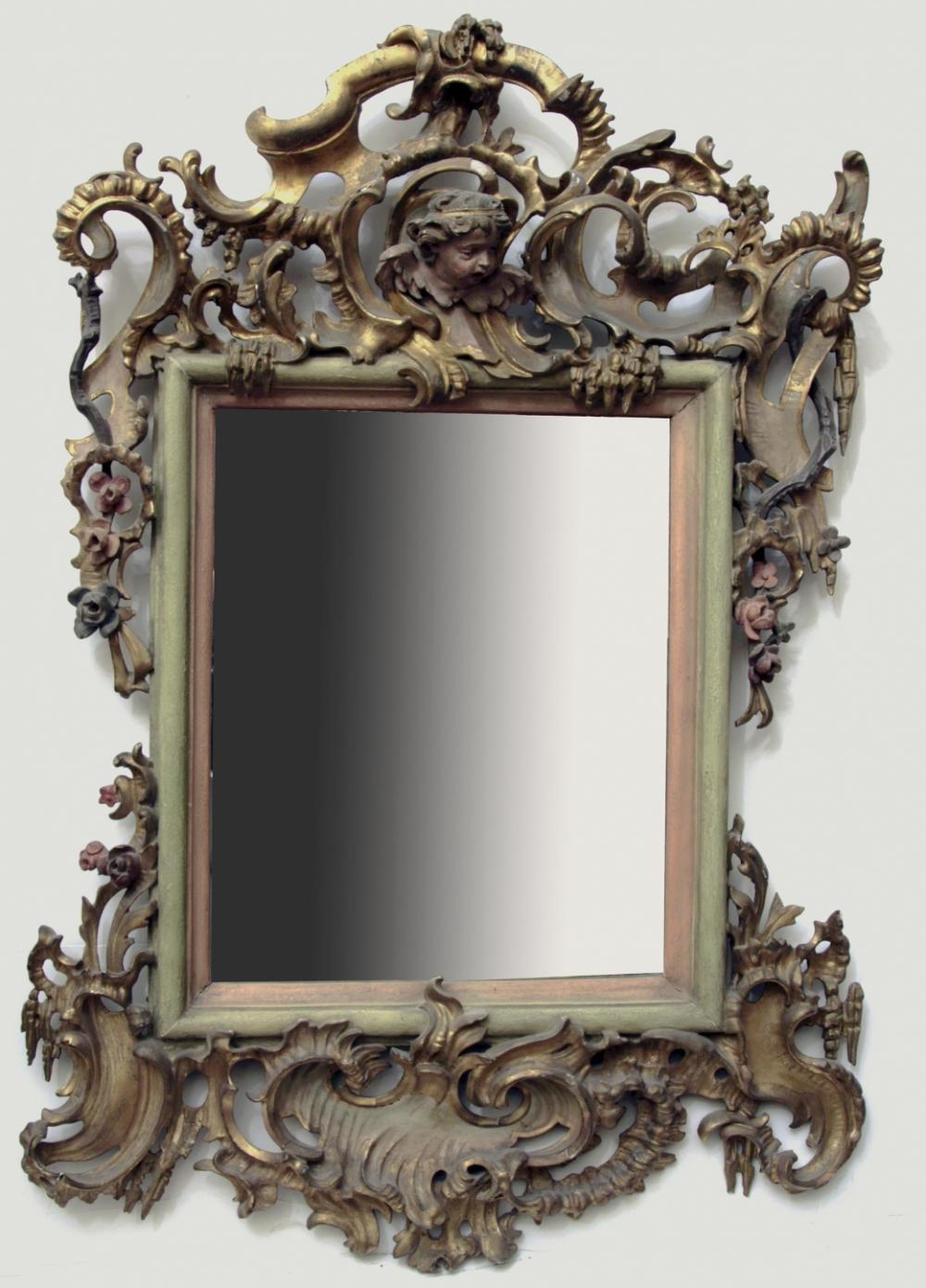 Зеркало настенное резное в стиле Барокко