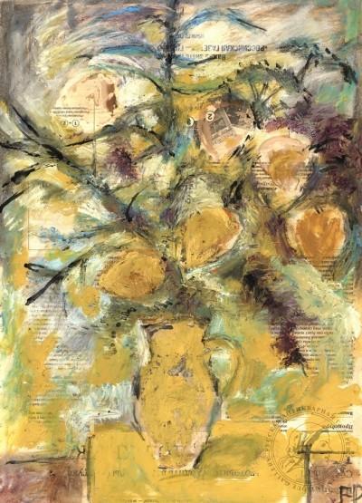 Картина «Букет с жёлтыми цветами»