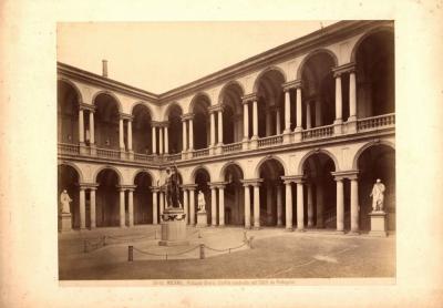 № 50 Старинная фотография «MILANO. PALAZZO BRERA»