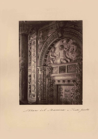 № 5 Старинная фотография «ALTARE DEL MARRINA A FONTE GIUSTA»