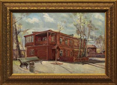 №1 Картина «Пейзаж с домом»