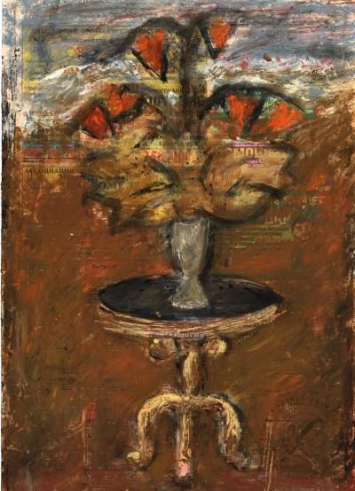 Картина «Натюрморт цветы на столе»