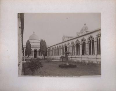 №26 Старинные фотография PISA. CAMPO SANTO. ESTERNO LATO MERIDIONALE — G. PISANO