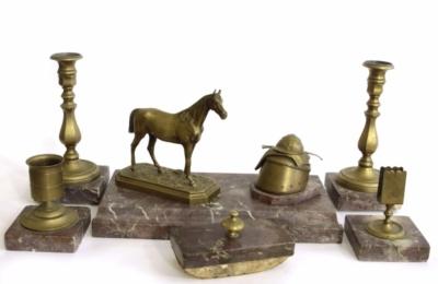 Старинный бронзовый письменный прибор по модели Лансере