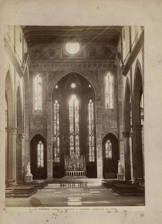 №33 Старинная фотография «Firenze chiesa di s.croce. L» interno. (ARNOLFO DI LAPO)
