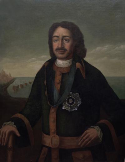 Старинный портрет «Пётр Первый»