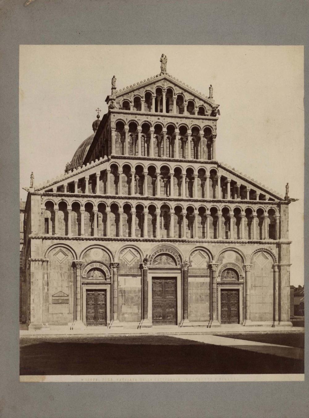 № 22 Старинная фотография «PISA FACCIATA DELLA CATTEDRALE (BUSCHETTO E RINALDO)»