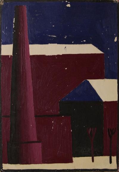 Картина «Подмосковье. Подольск» 1970 год