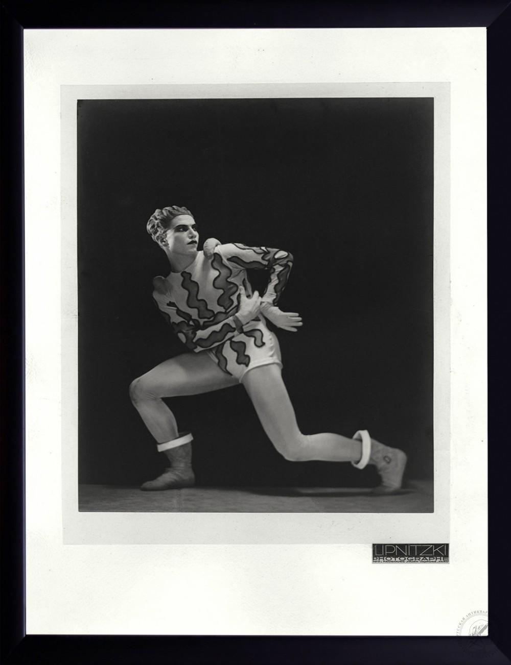 №1 Винтажная фотография «Танцовщик Серж Лифарь» 1930-е годы