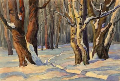 Рисунок «Зимний лес»