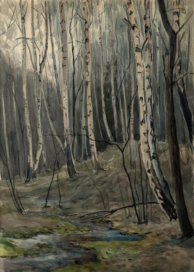 Рисунок «Весенний лес»