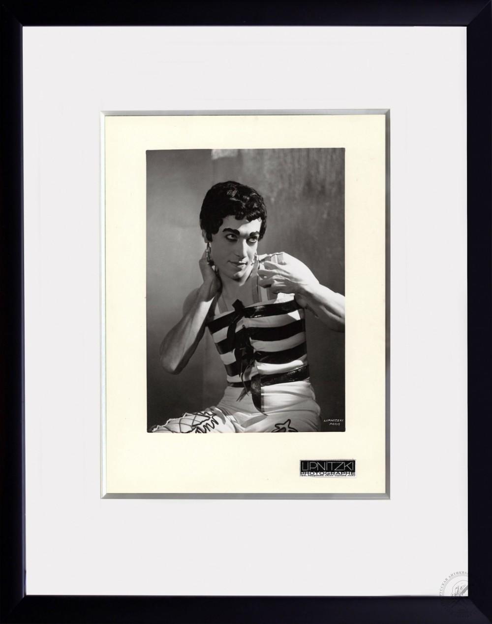 №2 Винтажная фотография «Танцовщик Серж Лифарь» 1930-е годы