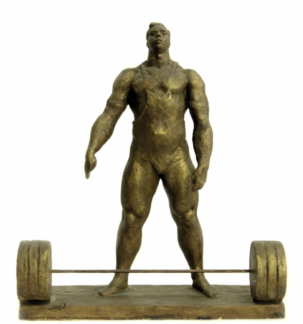 Гипсовая скульптура «Штангист»