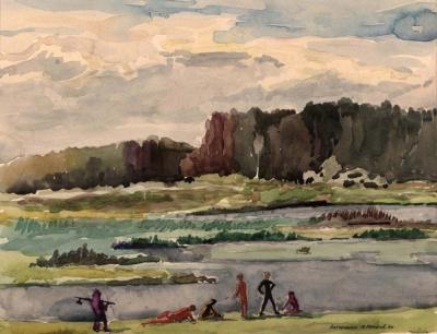 Рисунок «Летний день. Загорянка»