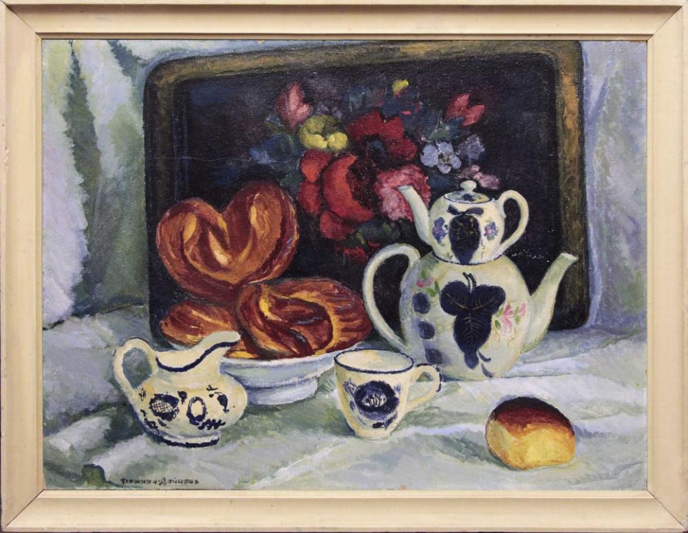 Картина «Чайный натюрморт с плюшками»