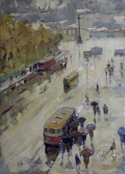 Картина «Ленинград. Дворцовая площадь»