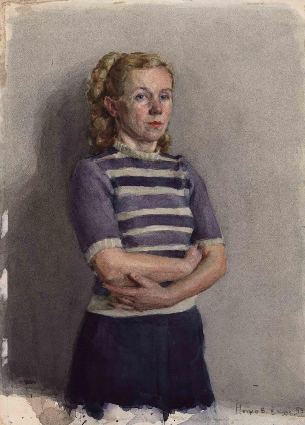 Акварель «Портрет девушки»