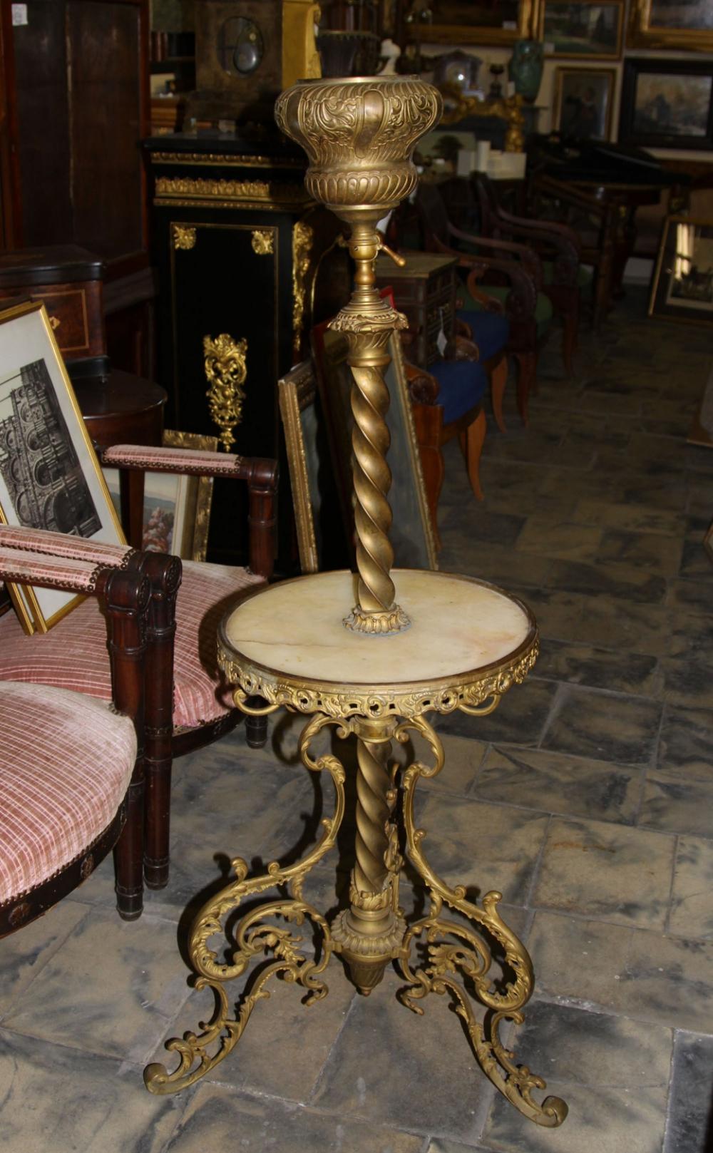 Торшер бронзовый под масляную лампу