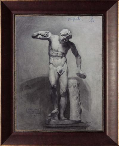Рисунок «Гипсовая скульптура» ученика Императорского Строгановского Центрально — художественного промышленного училища