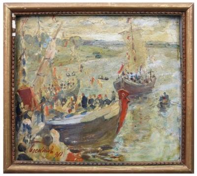 Этюд «Лодки»