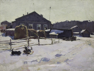 Картина «Северная деревня. Март»