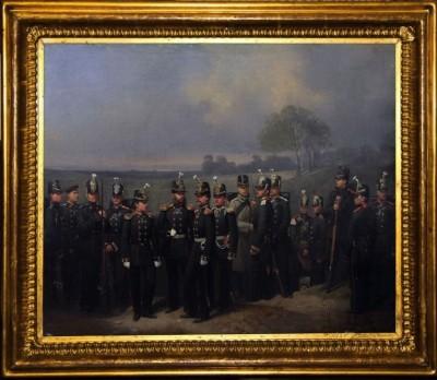 Антикварная картина «Чины 3-го пехотного корпуса».