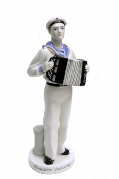 Фарфоровая статуэтка матроса Прощайте скалистые горы