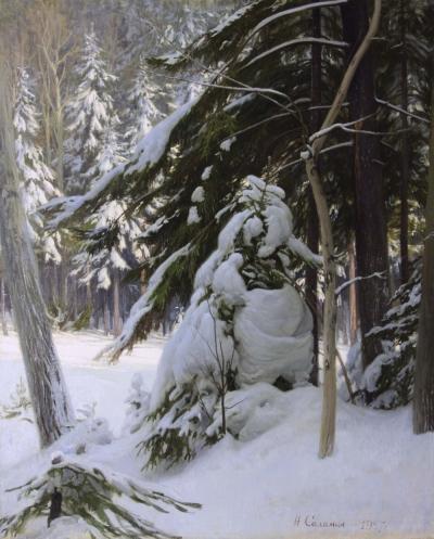 Зимний лес Соломин