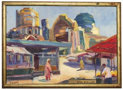 Картина «Самарканд. Мечеть (развалины) Биби Ханым»