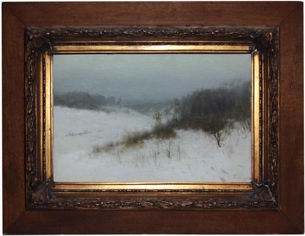 Старинная картина «Зима»