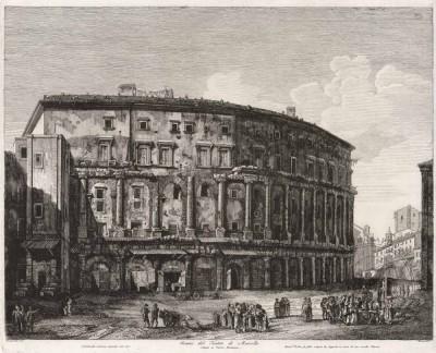 Гравюра Театр Марцелла
