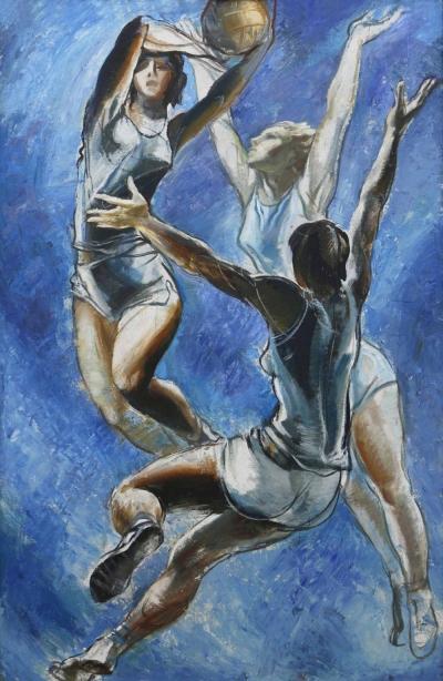 """Картина """"Баскетбол"""" художник Тальберг"""