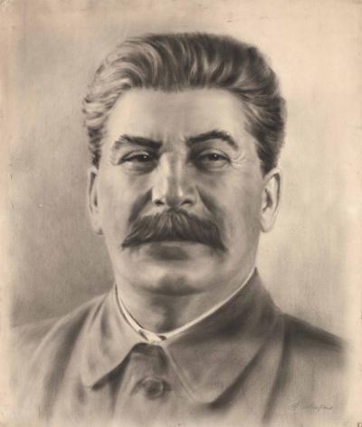 Портрет И.В. Сталина Литко