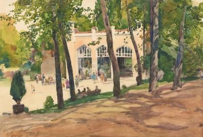 Рисунок «Кисловодск. Нарзанная галерея»