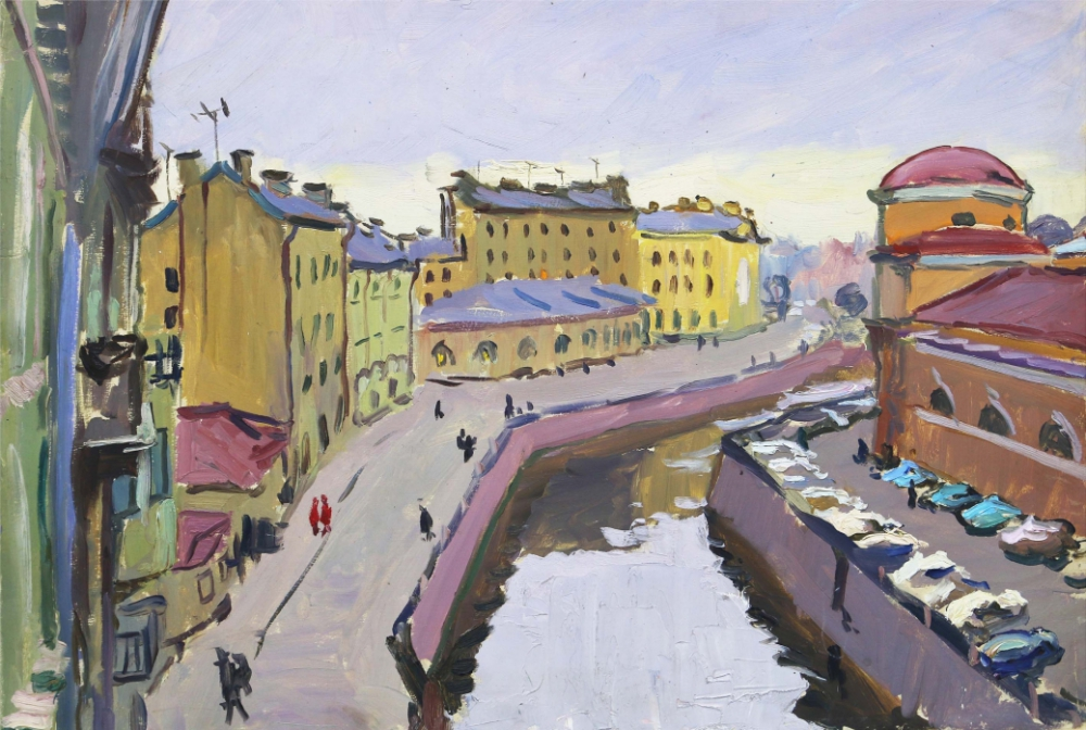 Картина «Набережная реки Мойки в Ленинграде»